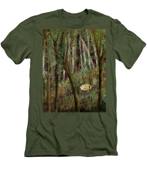 Forest Cat Men's T-Shirt (Slim Fit) by FT McKinstry