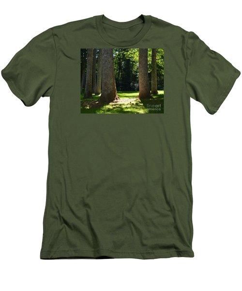 Forest Glen Men's T-Shirt (Slim Fit) by Lew Davis