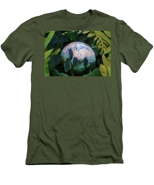 Forest Orb Men's T-Shirt (Slim Fit) by Lori Seaman
