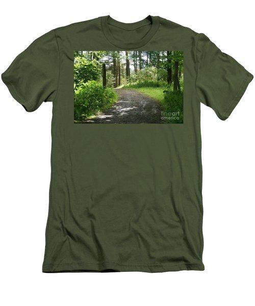 Forest Path. Men's T-Shirt (Athletic Fit)