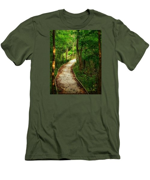 Men's T-Shirt (Slim Fit) featuring the photograph Forest Path by Nikki McInnes
