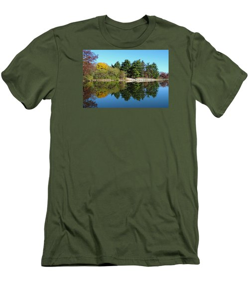 Men's T-Shirt (Slim Fit) featuring the photograph Forest Reflections by Teresa Schomig