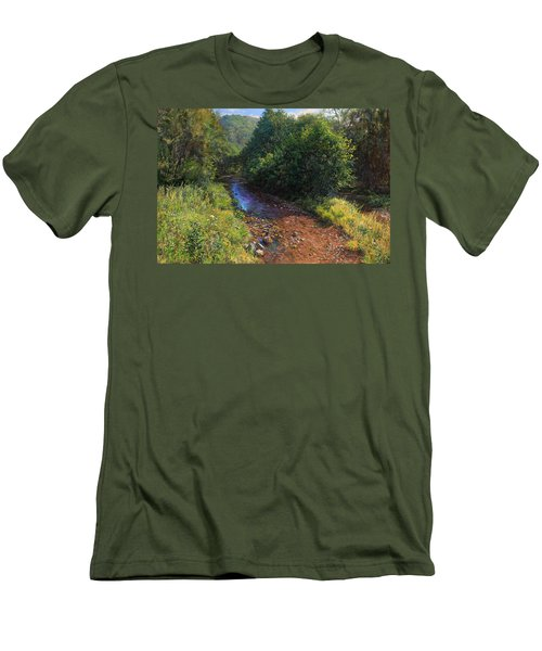 Forest River Summer Day Men's T-Shirt (Athletic Fit)