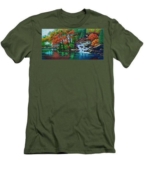 Forest Stream II Men's T-Shirt (Slim Fit) by Michael Frank