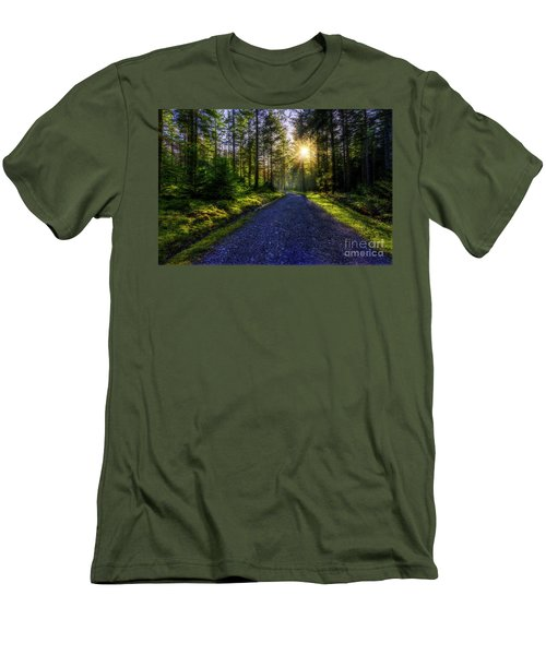 Men's T-Shirt (Slim Fit) featuring the photograph Forest Sunlight by Ian Mitchell