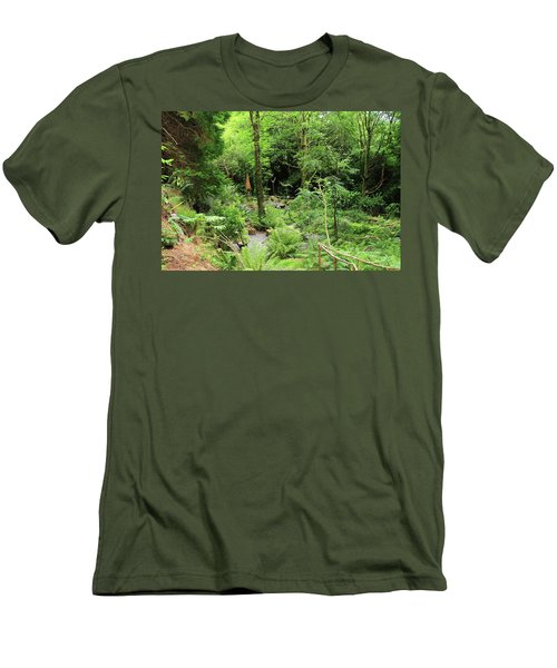 Men's T-Shirt (Slim Fit) featuring the photograph Forest Walk by Aidan Moran