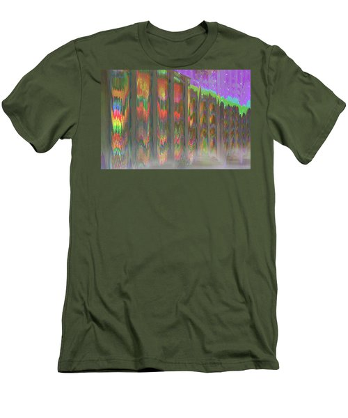 Men's T-Shirt (Athletic Fit) featuring the digital art Forests Of The Night by Wendy J St Christopher