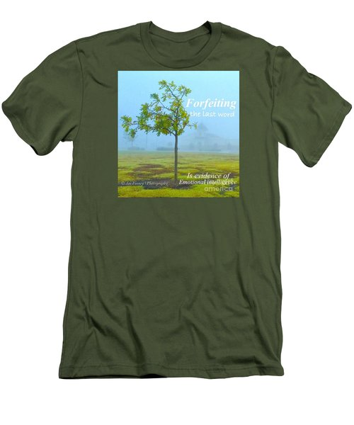 Men's T-Shirt (Slim Fit) featuring the photograph Forfeiting Last Word - No.2015 by Joe Finney