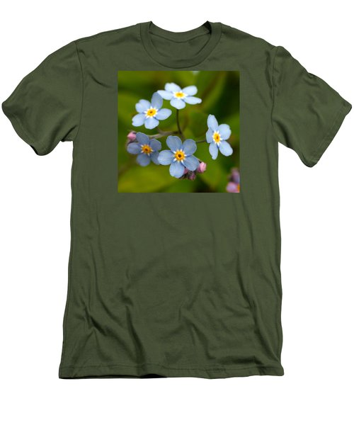 Forget-me-not Men's T-Shirt (Slim Fit) by Jouko Lehto