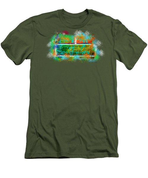 Forgive Brick Orange Tshirt Men's T-Shirt (Slim Fit) by Tamara Kulish