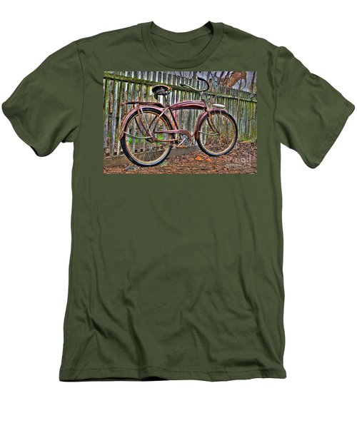 Men's T-Shirt (Slim Fit) featuring the photograph Forgotten Ride 1 by Jim and Emily Bush