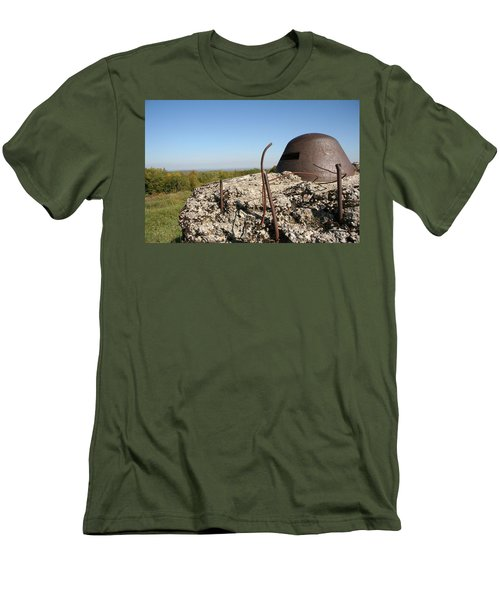 Men's T-Shirt (Slim Fit) featuring the photograph Fort De Douaumont - Verdun by Travel Pics