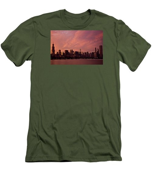 Fort Dearborn Men's T-Shirt (Slim Fit) by Michael Nowotny