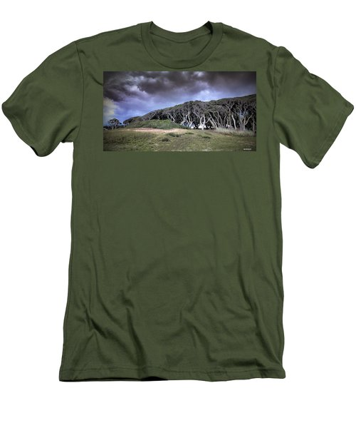 Fort Fisher Stormy Sunset Men's T-Shirt (Slim Fit) by Phil Mancuso
