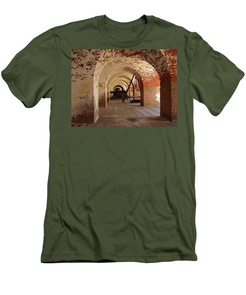 Fort Pulaski II Men's T-Shirt (Slim Fit) by Flavia Westerwelle