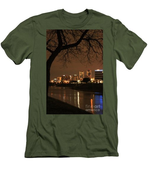 Fort Worth Skyline Men's T-Shirt (Athletic Fit)
