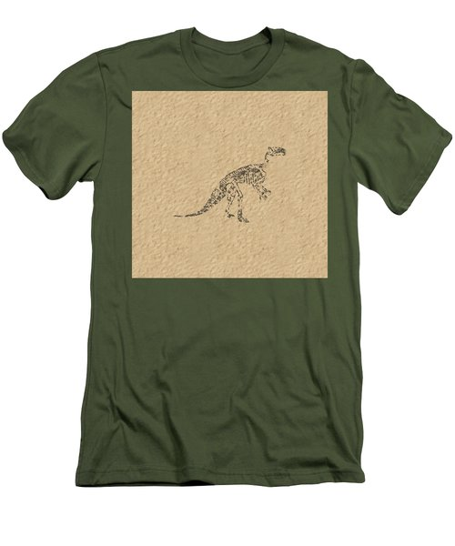 Fossils Of A Dinosaur Men's T-Shirt (Athletic Fit)