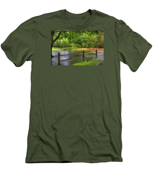 Fourth Street Flood Men's T-Shirt (Slim Fit) by Sharon Batdorf