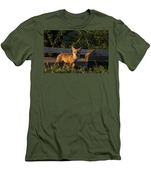 Men's T-Shirt (Slim Fit) featuring the photograph Fox 2 by Jay Stockhaus