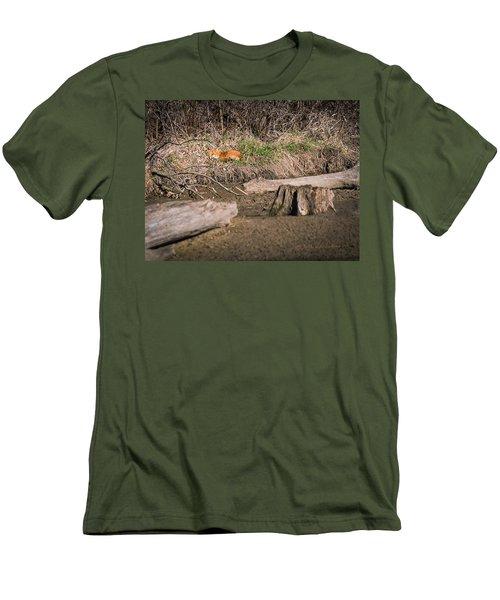 Fox Asleep Men's T-Shirt (Slim Fit) by Edward Peterson