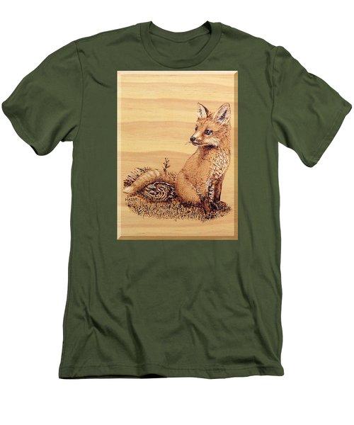 Fox Pup Men's T-Shirt (Slim Fit) by Ron Haist