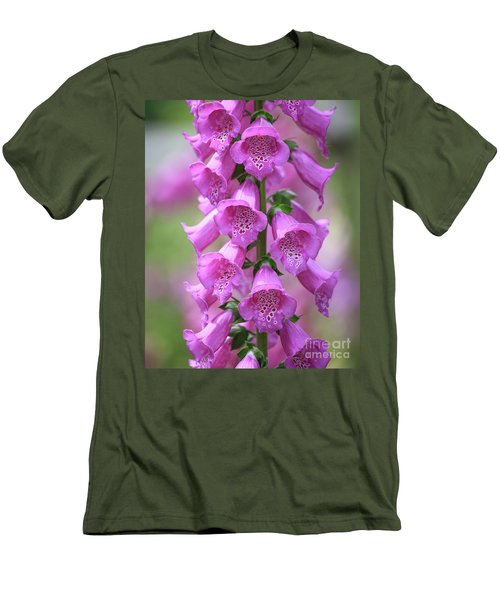 Men's T-Shirt (Athletic Fit) featuring the photograph Foxglove Flowers by Edward Fielding