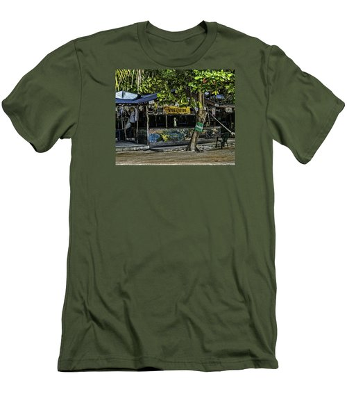 Foxy's On Jost Van Dyke Men's T-Shirt (Athletic Fit)