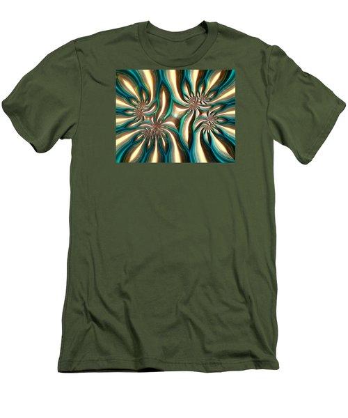 Fractal Landscape Vi Men's T-Shirt (Athletic Fit)