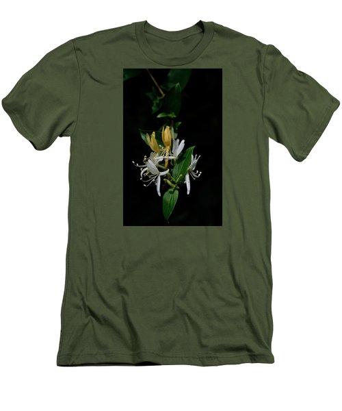 Men's T-Shirt (Slim Fit) featuring the photograph Fragrant Honeysuckle by Karen Harrison