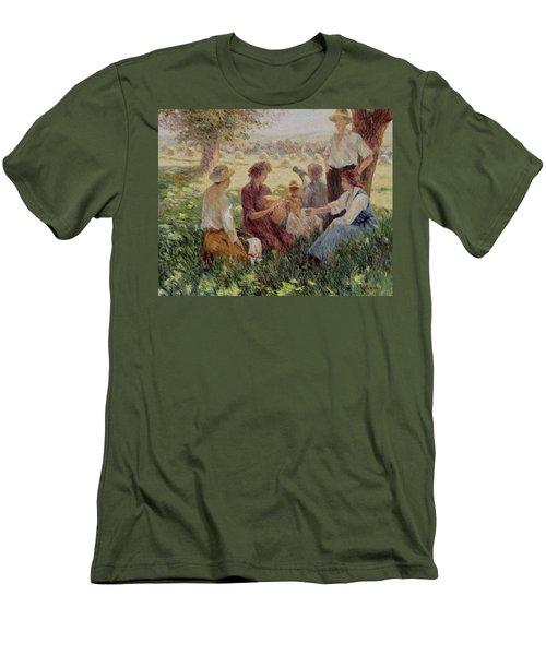 France Country Life  Men's T-Shirt (Slim Fit) by Pierre Van Dijk