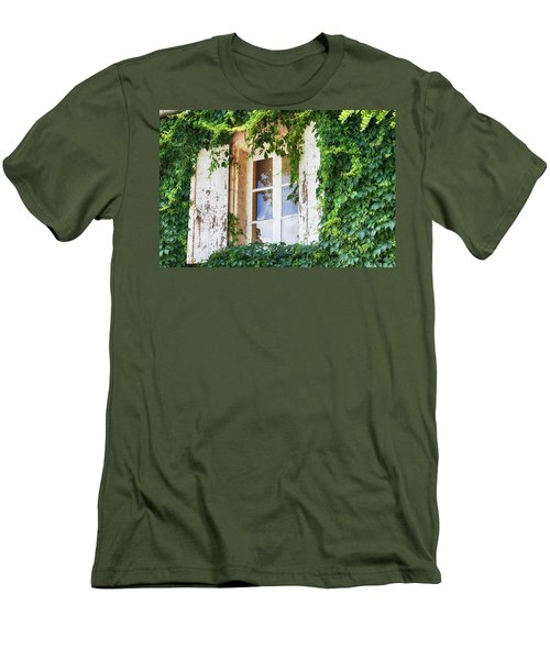 French Window In Provence Men's T-Shirt (Athletic Fit)