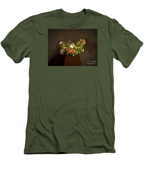 Men's T-Shirt (Slim Fit) featuring the photograph Fresh Flowers  ... by Chuck Caramella