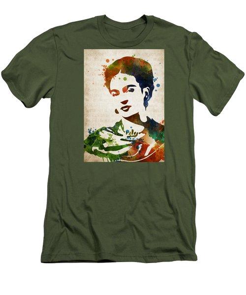 Frida Kahlo Men's T-Shirt (Slim Fit) by Mihaela Pater