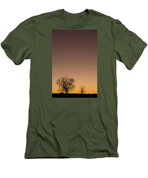 Men's T-Shirt (Slim Fit) featuring the photograph Friends Awaiting Sunrise by Monte Stevens