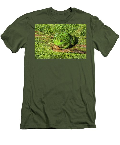Frog And Duck Weed Men's T-Shirt (Slim Fit) by Edward Peterson