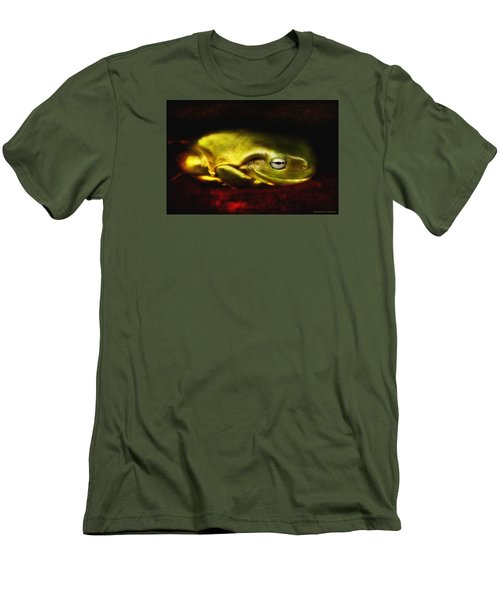 Men's T-Shirt (Slim Fit) featuring the photograph Frog Art 01 by Kevin Chippindall