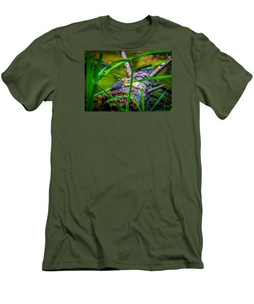 Frog On A Log 1 Men's T-Shirt (Athletic Fit)