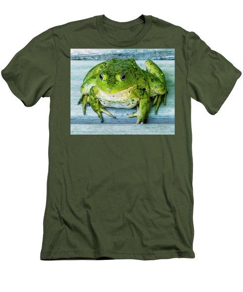 Frog Portrait Men's T-Shirt (Slim Fit) by Edward Peterson