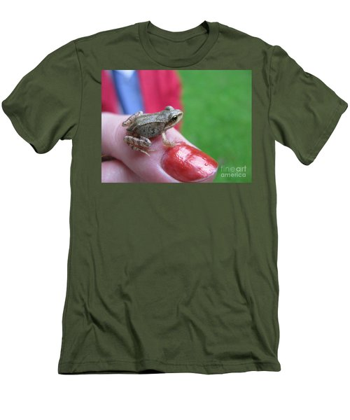 Men's T-Shirt (Slim Fit) featuring the photograph Frog The Prince by Ausra Huntington nee Paulauskaite