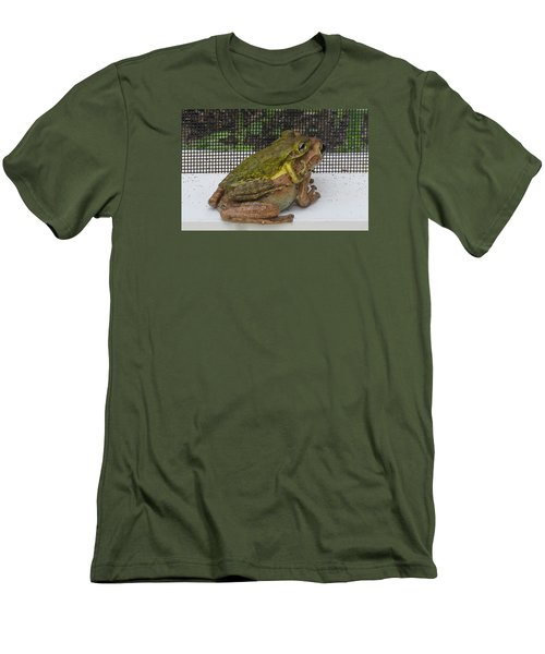 Men's T-Shirt (Slim Fit) featuring the photograph Froggy Love by Melinda Saminski