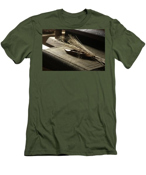 Men's T-Shirt (Slim Fit) featuring the photograph From Flax To Linen by Emanuel Tanjala