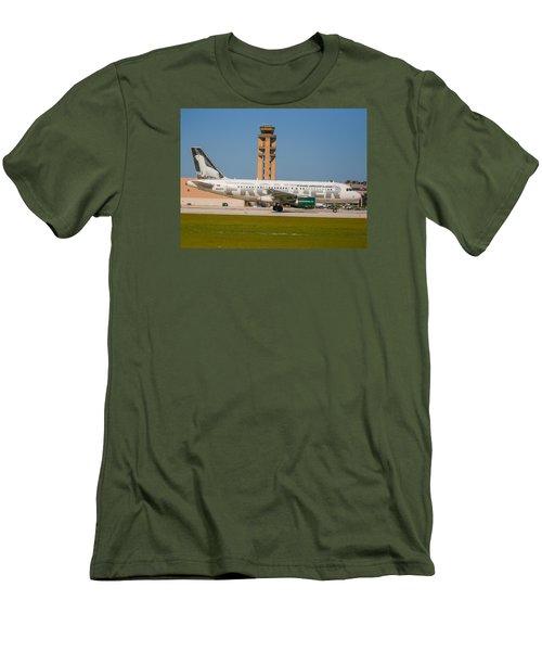 Frontier Airline Men's T-Shirt (Athletic Fit)