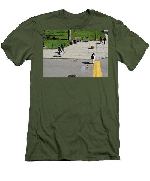 Frozen Lines Men's T-Shirt (Athletic Fit)