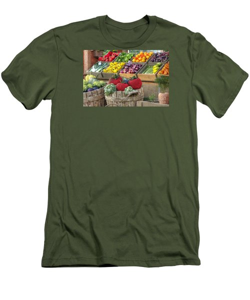Fruit And Veggie Display Men's T-Shirt (Athletic Fit)