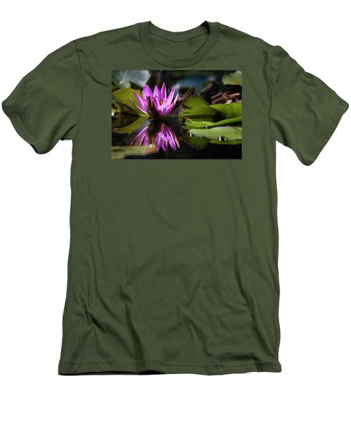 Men's T-Shirt (Slim Fit) featuring the photograph Fuchsia Dreams by Suzanne Gaff