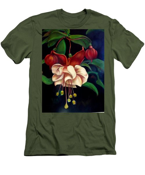 Fuchsias Men's T-Shirt (Slim Fit) by Irena Mohr