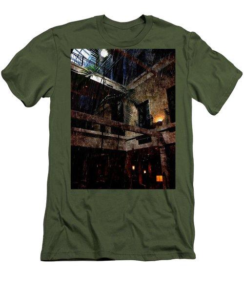 Full Moon At Tremont Toujouse Bar Men's T-Shirt (Slim Fit) by Karl Reid
