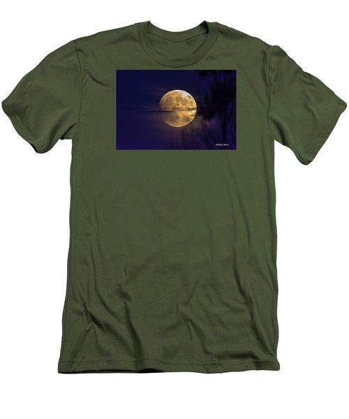 Full Moon Rise  Men's T-Shirt (Slim Fit) by Stephen  Johnson