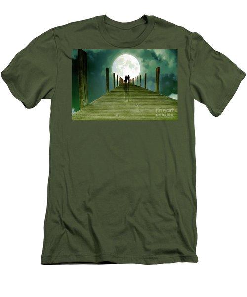 Full Moon Silhouette Men's T-Shirt (Athletic Fit)