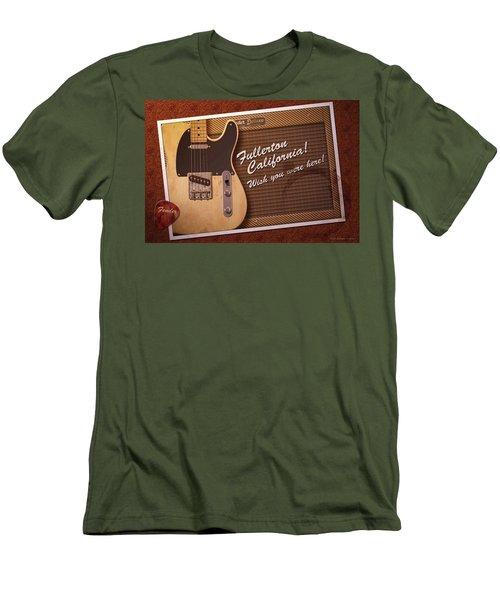Men's T-Shirt (Slim Fit) featuring the digital art Fullerton Postcard by WB Johnston